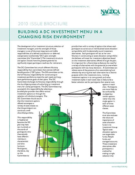 Building a DC Investment Menu in a Changing Risk Environment