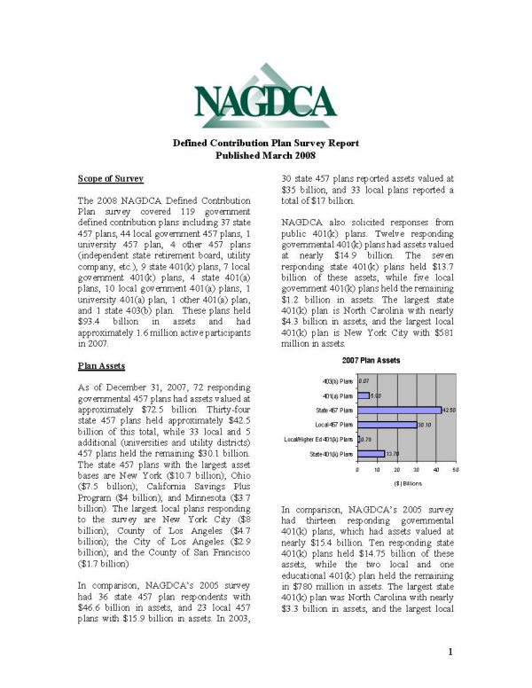 NAGDCA 2008 Survey I National Report