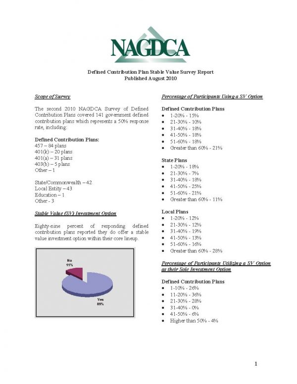 NAGDCA 2010 Survey II National Report