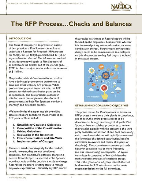 The RFP Process...Checks and Balances