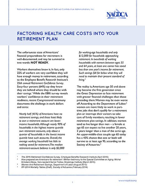 Factoring Health Care Costs Into Your Retirement Plan
