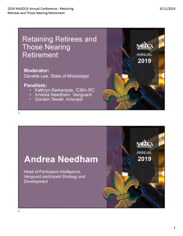 Retaining Retirees and Those Nearing Retirement