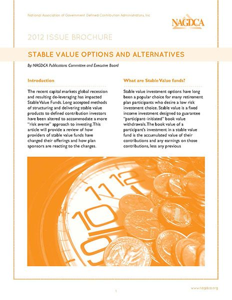 Stable Value Options and Alternatives