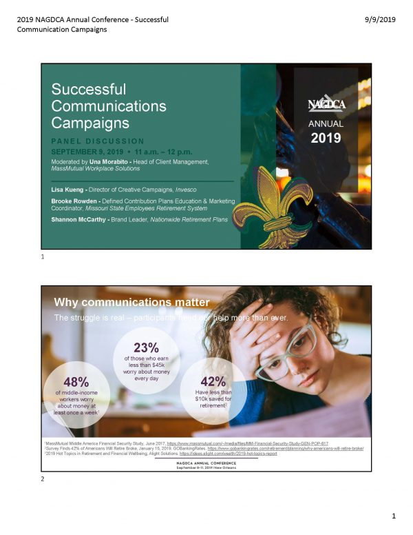 Successful Communication Campaigns