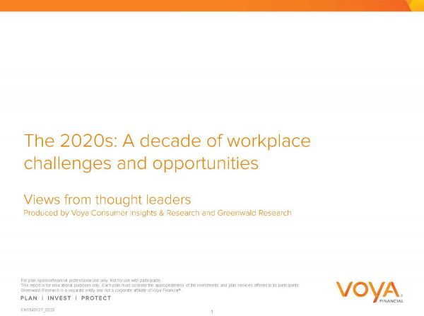 Voya - The 2020s: A decade of workplace challenges and opportunities