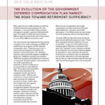 Evolution of the Government Deferred Compensation Plan Market: The Road Toward Retirement Sufficiency