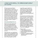 Using Auto-Enroll to Improve Participant Outcomes