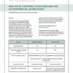 New Roth Contributions Feature for Governmental 457(B) Plans