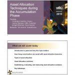 Asset Allocation Techniques during the Accumulation Phase