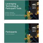 Leveraging Technology and Participant Tools