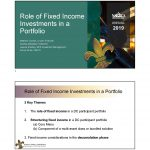 Role of Fixed Income Investments in a Portfolio