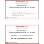 Success by Design: Innovation in Investment Lineups and Plan Design