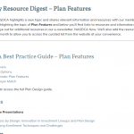 Plan Features Resource Digest