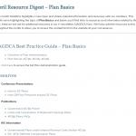 Plan Basics Resource Digest