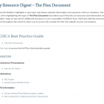 The Plan Document Resource Digest