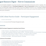 How to Communicate Resource Digest