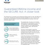Nationwide - Guaranteed lifetime income and the SECURE Act: A closer look